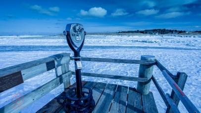 Cape Cod winter photography, Frozen Rock Harbor