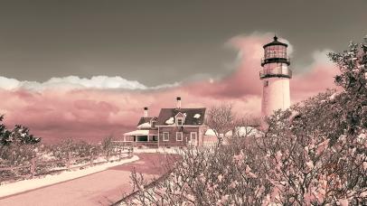 Winter photo - Truro Lighthouse in Winter