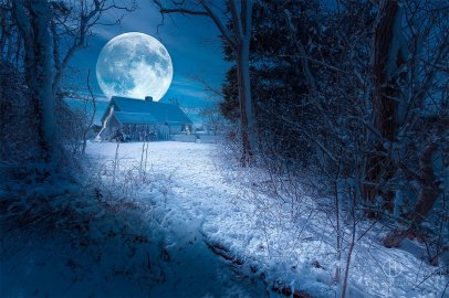 full moon art prints